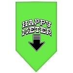 Happy Meter Screen Print Bandana Lime Green Small